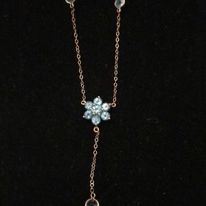 Gorgeous aquamarine 14 karat gold necklace